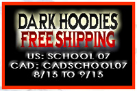 FREE shipping on all dark hoodies